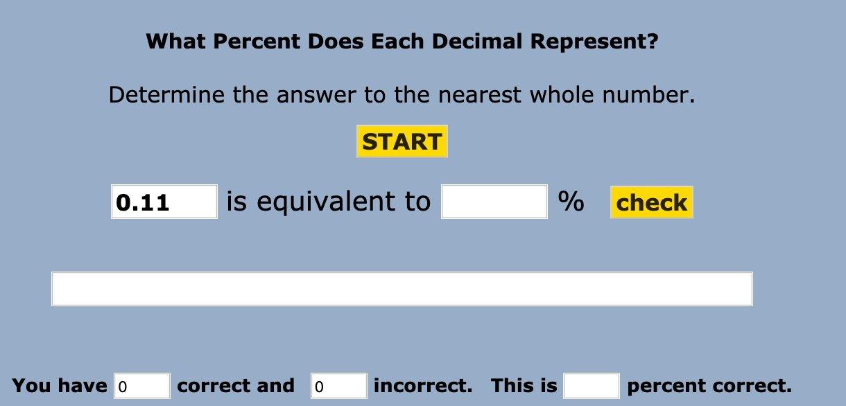 Decimals and Percents