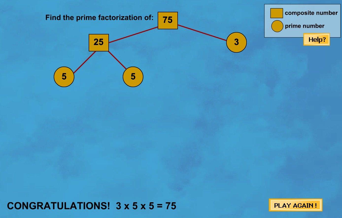 Factor Tree Game   Math Goodies