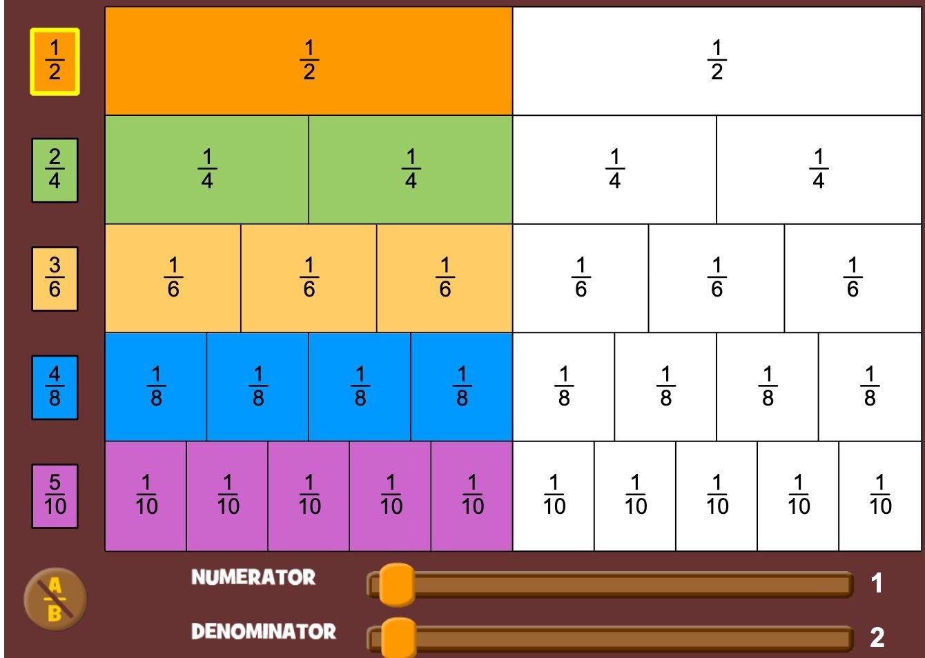 Fraction Bars   Math Playground
