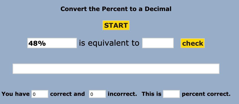Percents and Decimals