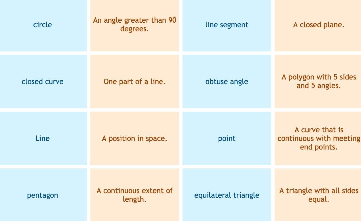 Quia   Geometric Terms