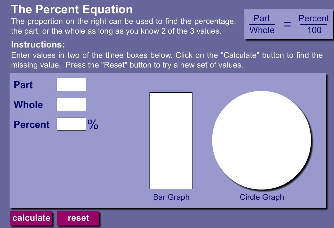 Visual Percent   Math Playground