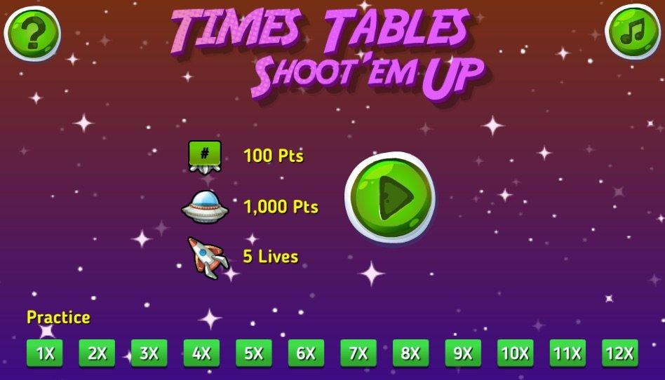 Times Tables Shoot  Em Up