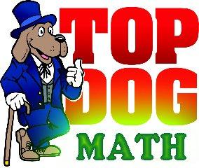Top Dog Math Logo green